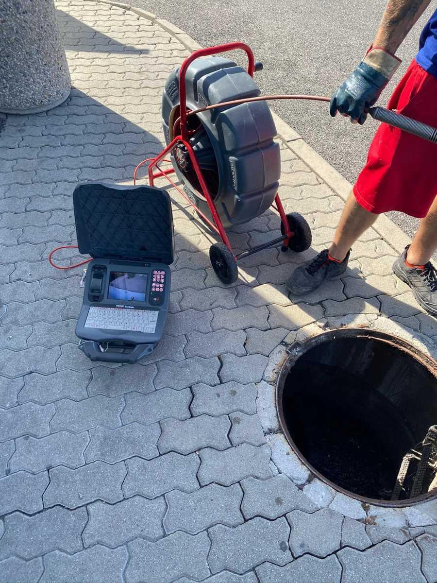 Kontrola odpadu kamerou - kamerovanie potrubia inšpekčnými kamerami